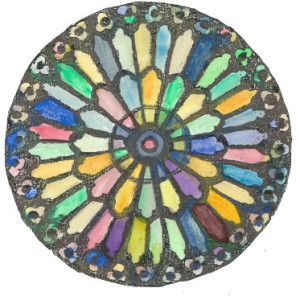 Rose window - color - clean